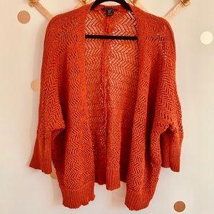 •Tahari• Crochet Cardigan in Burnt Orange 🧶